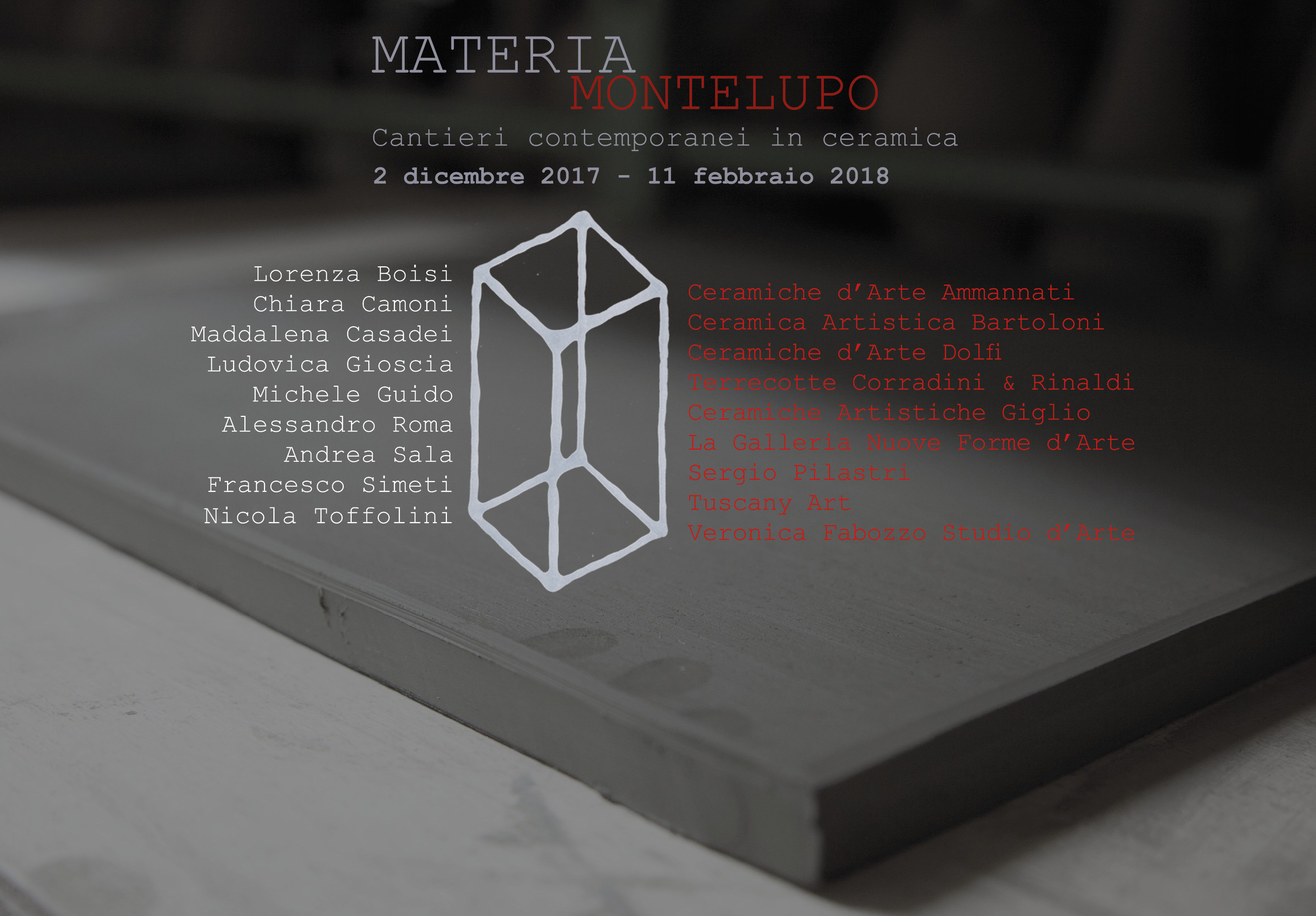 Materia Montelupo 2017, the exhibition of contemporary ceramic